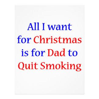Quit Smoking Dad! Flyer Design
