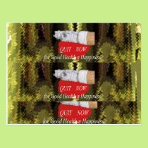QUIT Smoking - For Good Health n Happiness Postcard
