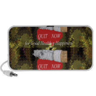 QUIT Smoking - For Good Health n Happiness Notebook Speaker