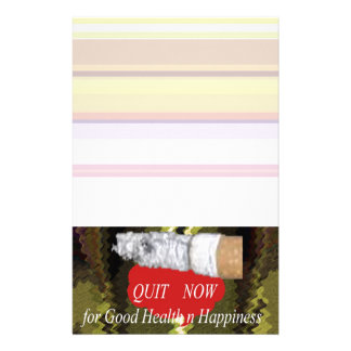 QUIT Smoking - For Good Health n Happiness Customized Stationery