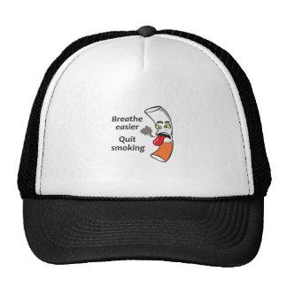 QUIT SMOKING TRUCKER HAT