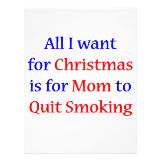Quit Smoking Mom!  2 Full Color Flyer