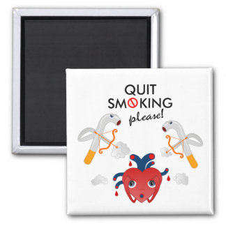 Quit smoking please 2 inch square magnet