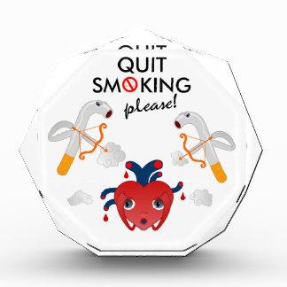 Quit smoking please acrylic award