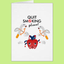 Quit smoking please card