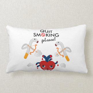 Quit smoking please lumbar pillow