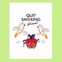 Quit smoking please postcard