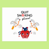 Quit smoking please postcard