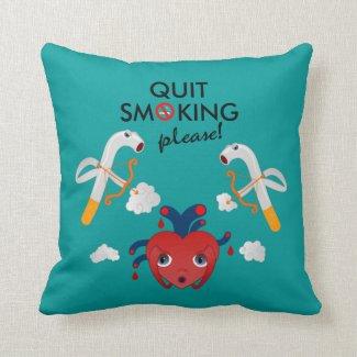 Quit smoking please throw pillows