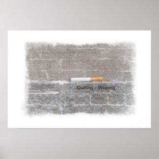 Quit Smoking Poster - Quitting = Winning