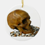 Quit Smoking Skull Ornaments