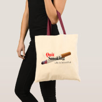 Quit Smoking Tote Bag