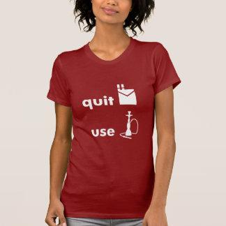 Quit Smoking Use Hookah Tee Shirt