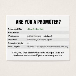 Quit stalking me bro. business card