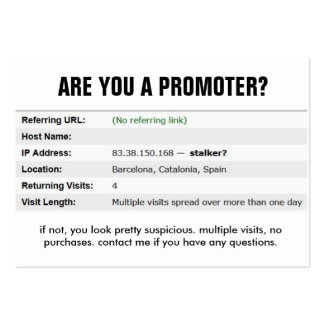Quit stalking me bro. large business card