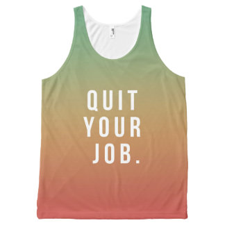 QUIT YOUR JOB: Turks & Caicos Labor Day Tank Top All-Over Print Tank Top