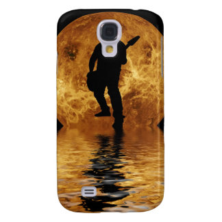 quitarist on moon surface samsung galaxy s4 cover