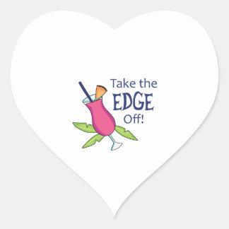 ¡Quite a The Edge! Pegatina En Forma De Corazón