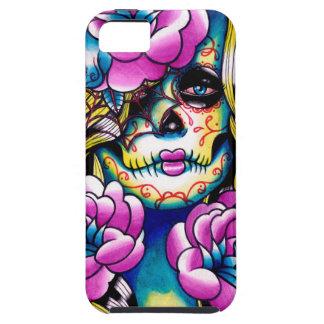 Quite al chica del cráneo del azúcar funda para iPhone SE/5/5s