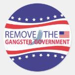 Quite al gobierno del gángster pegatinas redondas
