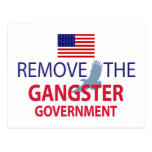 Quite al gobierno del gángster tarjeta postal