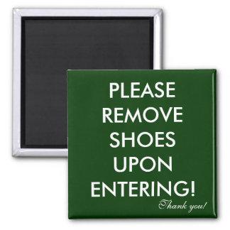 Quite por favor el imán de los zapatos