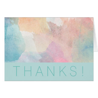 Quite Simply Watercolor Thank You Card 2