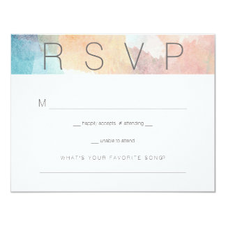 "Quite Simply Watercolor Wedding Respond Card 2 4.25"" X 5.5"" Invitation Card"