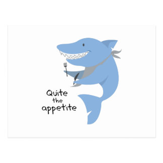 Quite The Appetite Postcard