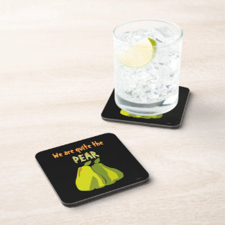 Quite the Pear Beverage Coaster