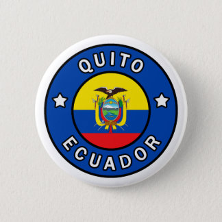 Quito Ecuador Button