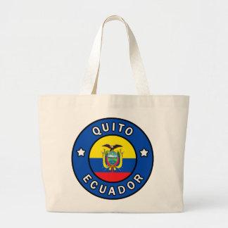 Quito Ecuador Large Tote Bag