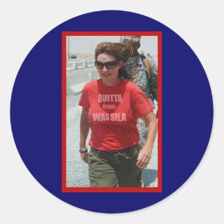 Quitta del pegatina fresco de Wassila Palin