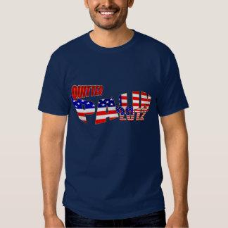 Quitter Palin stars and stripes USA flag T-Shirt