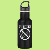 Quitter quit smoking stainless steel water bottle