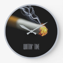 QUITTIN' TIME:  Stop Smoking Reminder Large Clock