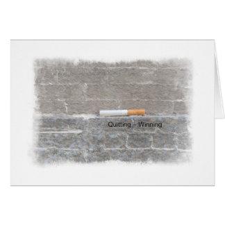Quitting Equals Winning Stop Smoking Card