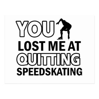 Quitting Speedskating Postcard