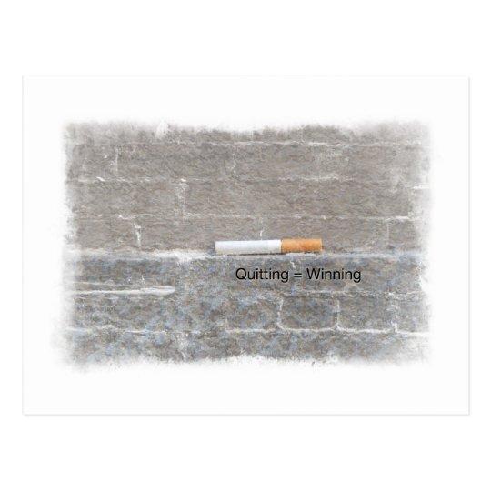 Quitting = Winning Anti-Smoking Last Cigarette Postcard