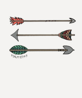 Quiver Full Arrow Tribal Psalm 127:4-5 Shirt