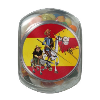Quixote Characters by @QUIXOTEdotTV Jelly Belly Candy Jars