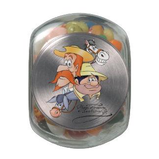 Quixote Characters by @QUIXOTEdotTV Glass Candy Jar