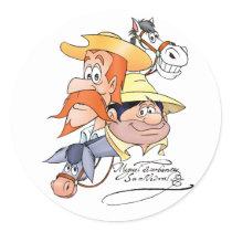 Quixote Characters by @QUIXOTEdotTV Classic Round Sticker
