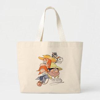 Quixote Characters by @QUIXOTEdotTV Large Tote Bag