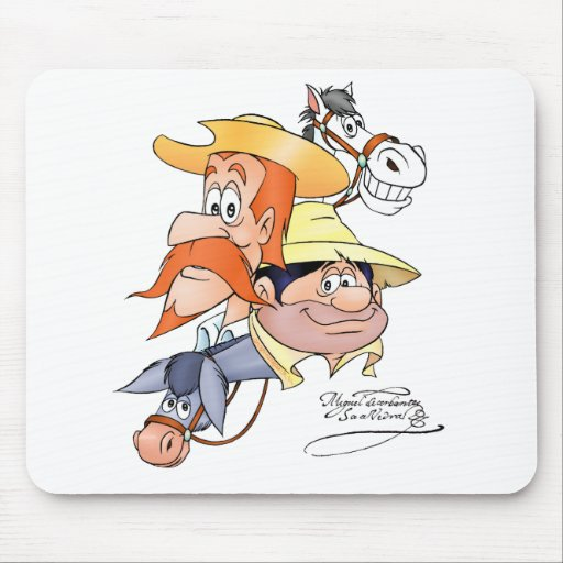 Quixote Characters by @QUIXOTEdotTV Mouse Pad