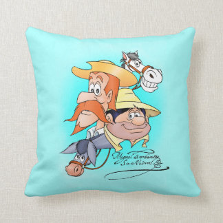 Quixote Characters by @QUIXOTEdotTV Throw Pillows