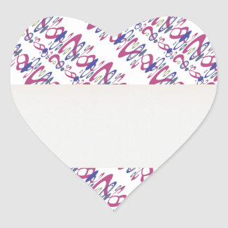 QUIZ Master : TWISTED Questions Competition Heart Sticker