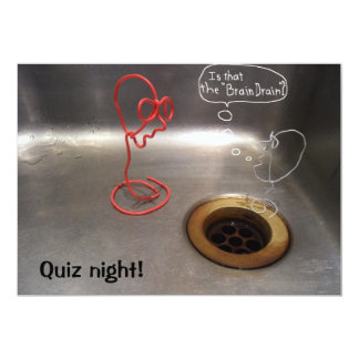Quiz night brain drain kitchen sink image card