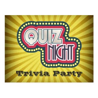 Quiz Night Trivia Party Invitation Postcard