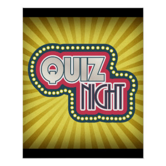 Quiz Night Trivia Party Poster